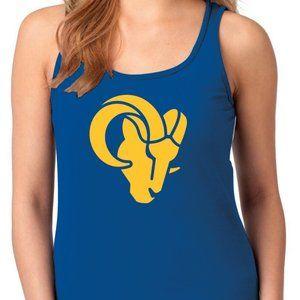 LA Rams New Logo Women's Racerback Tank Top